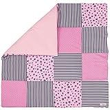 Lilakind Manta para bebé de patchwork, manta para gatear, de algodón, con...
