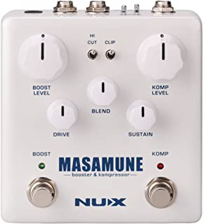 NUX Masamune Guitar Analog Compressor and Booster Pedal