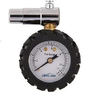 GODESON Smart Bike Reifendruckmanometer 0-160 psi, Doppelwaage mit 0-11 bar, Professional..