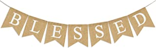 Blessed Banner Burlap  Blessed Bunting  RusticThanksgiving Decor  Thanksgiving Banner  Family Photo Prop  Mantle Fireplace Hanging Decor   Holiday Decorations