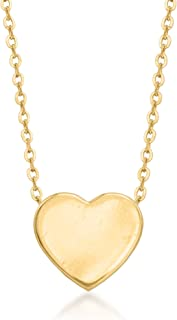 Ross-Simons 14kt Yellow Gold Heart Pendant Necklace
