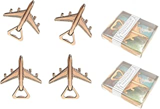Kinteshun Airplane Bottle Opener with Gift Box Packing for Wedding Party Favor(12pcs,Dark Golden Tone)