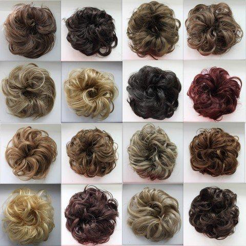 Haargummi Haarteil hairpiece Haarverdichtung Zopf Haarband Haarschmuck Schokobraun G3B