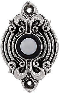 Vicenza Designs D4006 Sforza Doorbell, Vintage Pewter