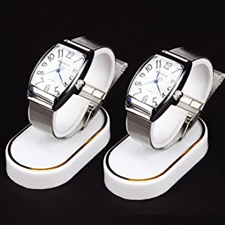 Wrist Watch Display Rack Holder Sale Show Case Stand Tool White Plastic