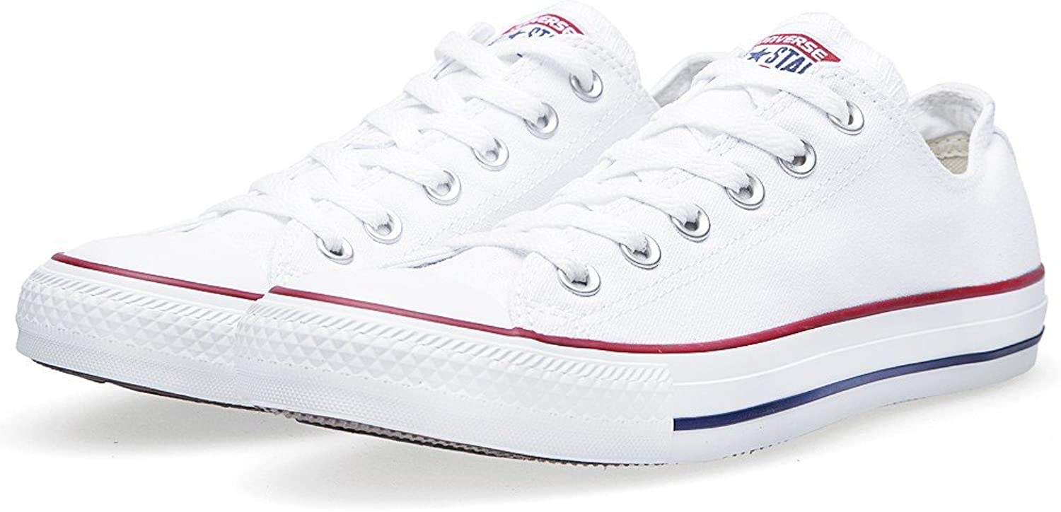 Converse Chuck Taylor All Star Low Mens schuhe (8.5 B(M) US damen   6.5 D(M) US Men, Optical Weiß)