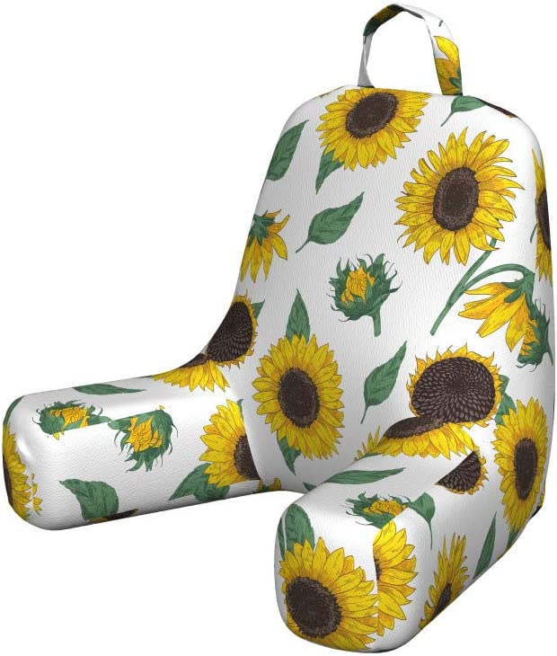 Ambesonne Sunflower Today's only Reading Cushion Max 70% OFF with Back Pocket Agricultur