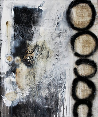 Acryl Gemälde auf Leinwand/ abstrakt/ 120 x 100cm Schwarz weiß Acrylbild moderne Kunst/ handgemalt/ Originalbild