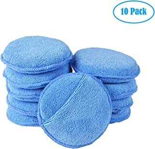 Blue Ultra-soft Microfiber Wax Applicator Pads with Pocket Wax Applicator for Cars Wax Applicator foam sponge Dia 5inch ZUKABMW Car Waxing Polish Sponge 10 pc Microfiber Wax Applicator