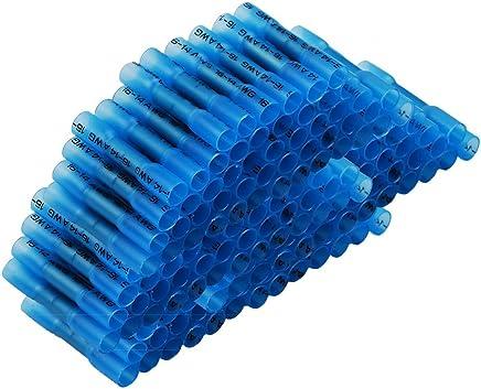 Pour fils jusqu/à 0.75mm to 2.5mm/² 50x Cosse Electrique Connecteur Rapide Bleu D/érivations Raccords Auto-D/énudants - Lot de 50 Cosses Electriques