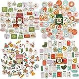 NLR adornos de Navidad pegatinas | 183 piezas 84 diseños diferentes | Feliz Navidad decoración y sobres