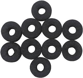 ammoon Rondella di Feltro Stand per Piatti Sostituzione Il Giro Morbido per Drum Set Cymbals 10 Pezzi Nero