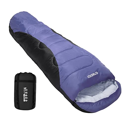 d0881f09ef ENKEEO Warm Mummy Sleeping Bag for Adults Lightweight and Compact  Breathable Hollow Cotton for Backpacking Hiking