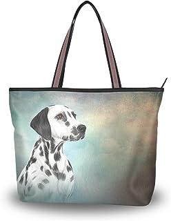 MyDaily Damen Schultertasche Dalmatiner Hund Vintage Handtasche