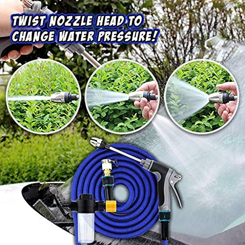 Xisheep High-Pressure Power Nozzle High Pressure Water Spray Lengthen Adjustable Nozzle, 2.5-7.5m, Tools, Home Improvement (A)