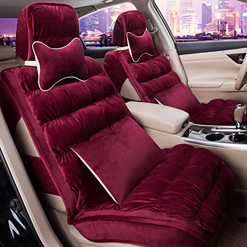 AMYMGLL Accessoires automobiles Seat Cover Deluxe Edition voiture universel en peluche hiver 5 couleurs sélection , #30