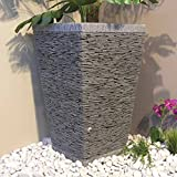 wanda collection Maceta Tiesto Jardinera Cuadrada Pizarra 80cm Piedra Natural