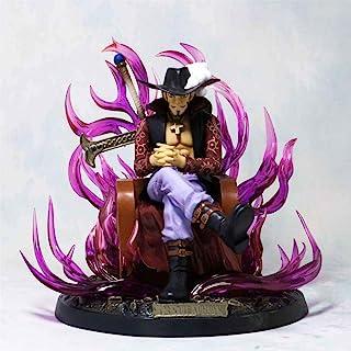 Verkligt och roligt 20cm Dracule Mihawk Throne Hall Ver PVC Modell Eagle Eye GK Staty Anime One Piece Action Figur Collect...