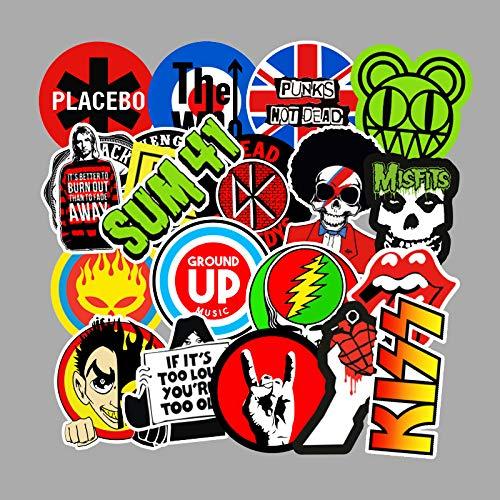 AXHZL Etiqueta engomada del Doodle del Tema de la música Etiqueta engomada del Cuaderno del monopatín de la Motocicleta Impermeable 100 Piezas
