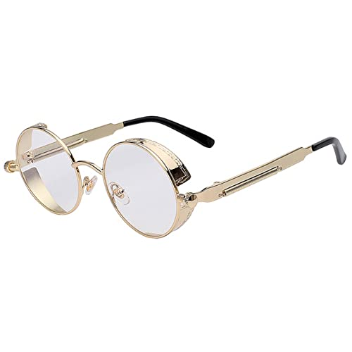 71795328b400 Steampunk Retro Gothic Vintage Hippie Colored Metal Round Circle Frame  Sunglasses Colored Lens OWL