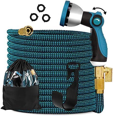 Expandable Garden Hose 100ft Expanding Flexible Water Hose with 10 Function Nozzle Durable 3750D product image