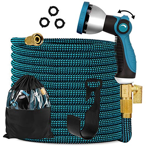 Expandable Garden Hose 100ft - Expanding Flexible Water Hose with...