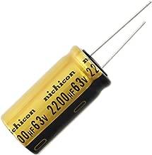 Nichicon UFW Audio Grade Electrolytic Capacitor, 2200uF @ 63V, 20% Tolerance