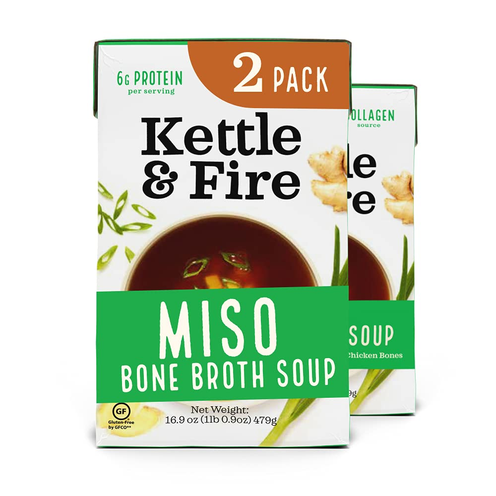 Super-cheap Kettle OFFicial mail order and Fire Miso Bone Broth Diet Gluten Soup Paleo Free H