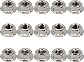 Senzeal Hex Flange Nuts, 8mm Height M8 Thread Stainless Steel Serrated Hex Flange Nuts 15pcs