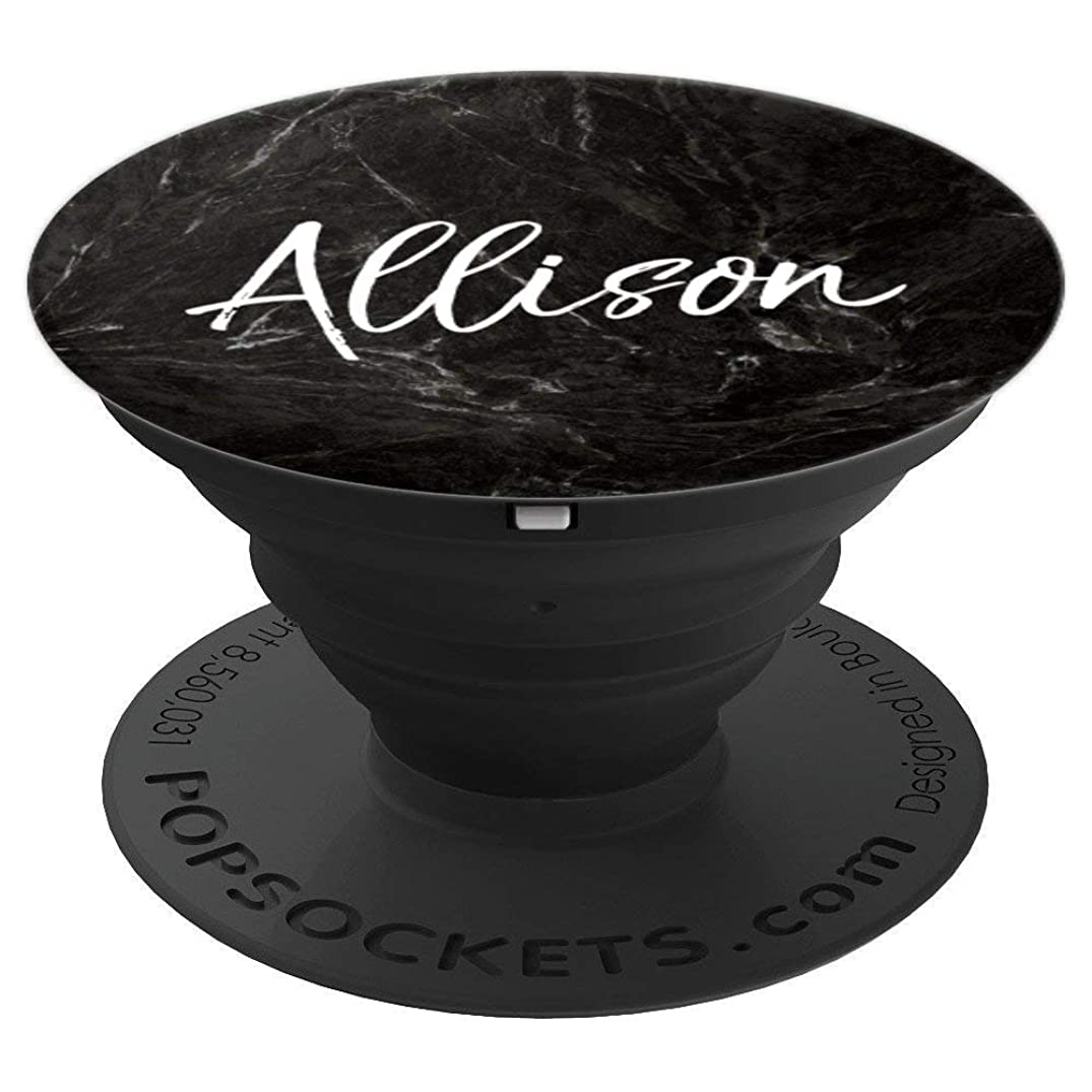 Allison Name Custom Girls Gift Cute Birthday Black Phone - PopSockets Grip and Stand for Phones and Tablets