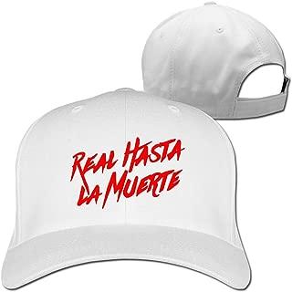 Real Hasta La Muerte Logo Infant Cap Hat Peaked Baseball Hats Black