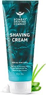 Bombay Shaving Company Shaving Cream with Tea Tree oil, Aloe Vera and Menthol Extracts- 100 g | Made in India
