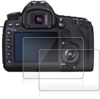 Camera Screen Protector Compatible Canon EOS 5D Mark III MK 5DS 5DSR 5DIII, AFUNTA 2 Pack Anti-Scratch Tempered Glass for DSLR Camera