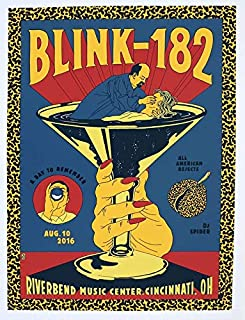 Get Motivation Blink-182, Blink one Eighty Two, an American Rock Band, Mark Hoppus, Travis Barker, Matt Skiba 12 x 18 inch Poster