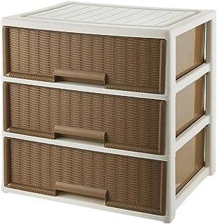 Yaeele Lave-linge Placard 3 tiroirs de rangement Tiroirs Organisateur unités Chambre Armoire de rangement for Bureau (Coul...