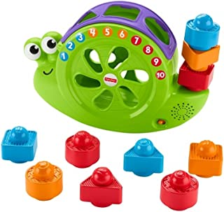 Fisher-Price My Snail Friend Baby Toy for Learning Shapes, Numbers and Colours, with 10 Music, 6 Months and More, FRB87
