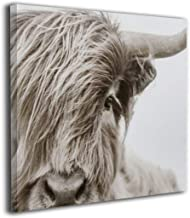 Hd8yehao Highland Cow Canvas Wall Art Prints Photo Modern Paintings Home Decoration Giclee Artwork Wood Frame Gallery Stre...