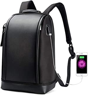 Bopai Business 15.6 inch Laptop Backpack Invisible Water Bottle Pocket Anti-Theft Laptop Rucksack USB Charging Port and Anti-Explosion Zipper Water Resistant Travel Anti-Thief Men Backpack Black
