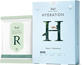Rael Sheet Masks Value Packs - Natural Facial Masks with Fruit Extracts and Natural pH Balanced Feminine Wipes, Vegan and ...