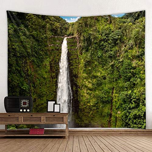 GDKUHGE tapizTapiz de Paisaje Hermoso Bosque Natural Impreso Gran Tela para Colgar en la Pared Colcha de Playa Toalla de Playa decoración del hogar Viaje Almohadilla para Dormir