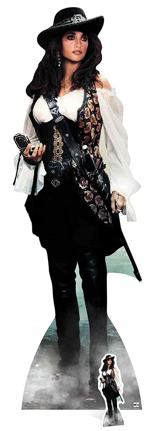 Star Cutouts Angelica Pirates of The Caribbean Life Size Cut Out, Cardboard Multi-Colour, 165 x 5 x 165 cm