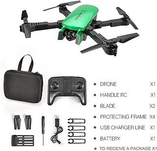 MoJoyo R8 Drone HD 4K Antena de Cuatro Ejes Aeronave Aeronave de Doble cámara con 1 batería, Flujo de luz Verde