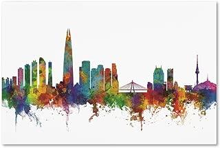 Seoul Skyline South Korea II by Michael Tompsett, 16x24-Inch Canvas Wall Art