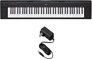 Yamaha NP32 NP-32 Black Portable Digital 76-Key Piano with Free Power Supply