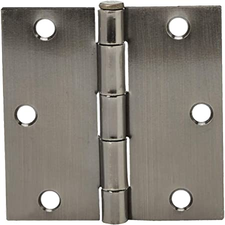 Fоur Paсk Satin Nickel Plain Bearing Steel Hinge x 3.5 in Global Door Controls 3.5 in Set of 2
