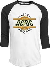 Men's AC DC High Voltage Half Sleeve Midweight Jersey Tees