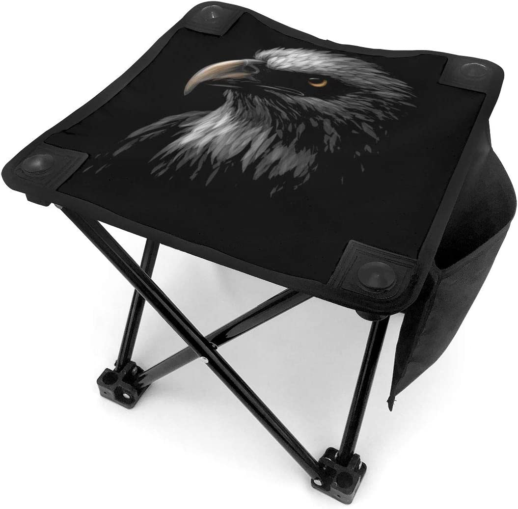 Cheap SALE Start Head of A Bald Eagle Durable Folding Portable Camping Stoo Stool New product type