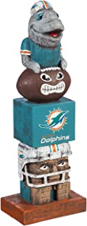 Evergreen NFL Miami Dolphins Tiki Totem, Team Colors, One Size