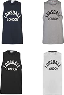 Official Brand Lonsdale Muscle Vest Mens Singlet Tops Tank Navy Small