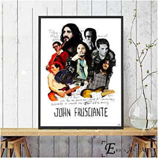 John Frusciante Figure Guitar Show Canvas Prints Modern Painting Posters Wall Art Pictures For Living Room Decoration -60x90cm No Frame